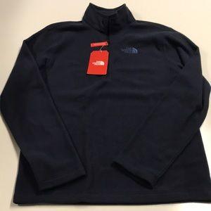 🆕 NORTH FACE Men's Small Blue 1/4 zip Fleece